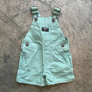 OshKosh Pastel Blue Overall Shorts Sz 6-9 Months